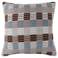 Make-Your-Own-Pillow Stripe & Ladder Square Throw Pillow Cover in Blue/Grey