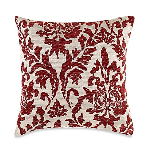 Throw Pillow Covers Bed Bath Beyond : Make-Your-Own-Pillow Venice Square Throw Pillow Cover in Red Chilli - Bed Bath & Beyond