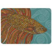 Bungalow Flooring Beta Fish 23-Inch x 36-Inch Decorative Kitchen Mat