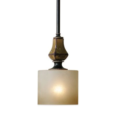Buy frosted glass ceiling light from bed bath beyond uttermost porano ceiling mount mini pendant in bronze with frosted glass shade aloadofball Choice Image