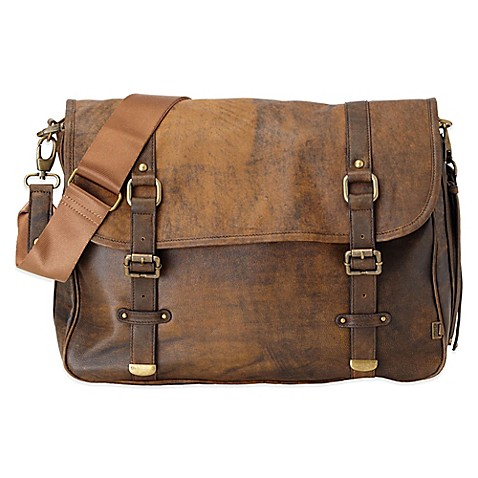 oioi jungle leather satchel in brown buybuy baby. Black Bedroom Furniture Sets. Home Design Ideas