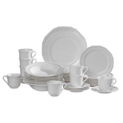 Mikasa® Antique White 42-Piece Dinnerware Set  sc 1 st  Bed Bath \u0026 Beyond & Buy White Casual Dinnerware from Bed Bath \u0026 Beyond