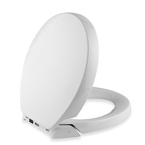 kohler purefresh round toilet seat in white bed bath