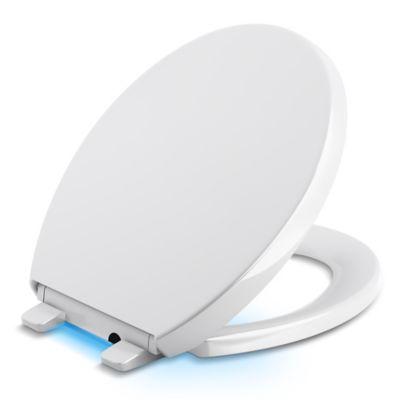 white sparkle toilet seat. Kohler  Reveal Nightlight Quiet Close Round Toilet Seat in White Buy Seats from Bed Bath Beyond