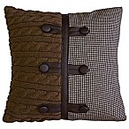 Lamington Square Throw Pillow in Brown