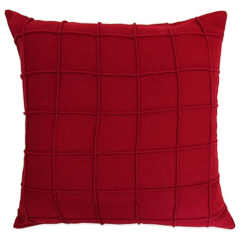 Red Throw Pillow For Bed : Lamington Square Throw Pillow in Red - Bed Bath & Beyond