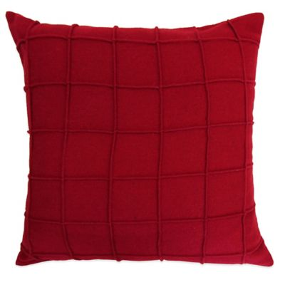 Lamington Square Throw Pillow in Red - Bed Bath & Beyond