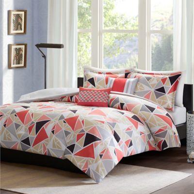 intelligent design mackenzie 4piece twintwin xl comforter set in pink - Twin Bed Comforters