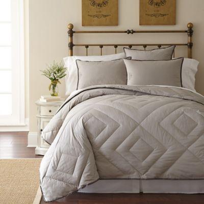 pendleton vintage wash primaloft king comforter in grey - Down Comforter King