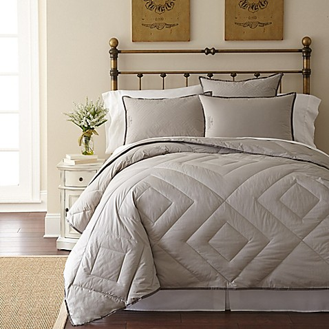 Pendleton 174 Vintage Wash Primaloft 174 Comforter In Grey Bed
