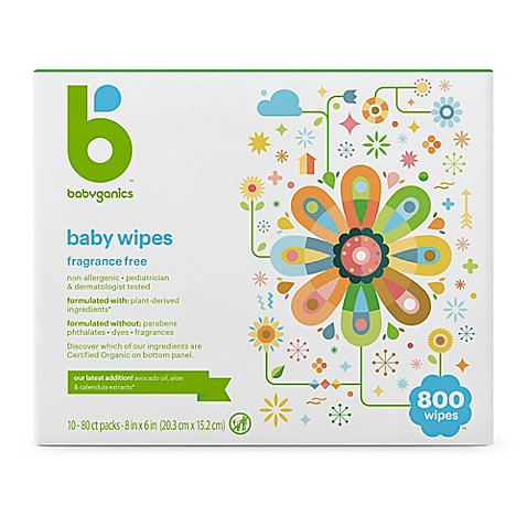 Babyganics 174 Fragrance Free 800 Count Face Hand And Baby