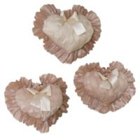 Glenna Jean Paris 3-Piece Heart Wall Hanging Set in Cream/Pink