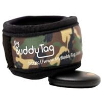 BuddyTag™ Child Safety Wristband with Velcro® in Green Camouflage