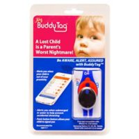 BuddyTag™ Child Safety Silicone Wristband in Blue/Red