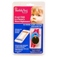 BuddyTag™ Child Safety Silicone Wristband in Pink/Aqua