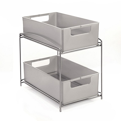 .ORG 2-Tier Sliding Basket Organizer