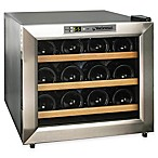 Wine Enthusiast® Silent Stainless Steel 12-Bottle Single-Zone Wine Cooler