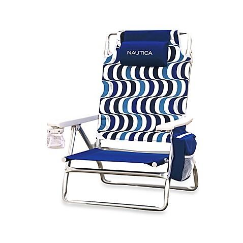 Nautica 174 5 Position Beach Chair In Blue Bed Bath Amp Beyond