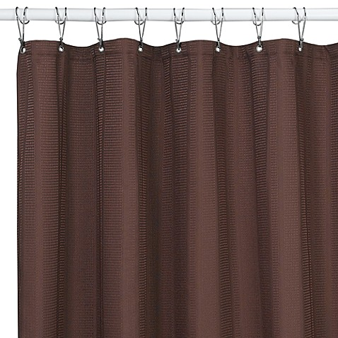 Westerly Mocha 72-Inch x 72-Inch Fabric Shower Curtain