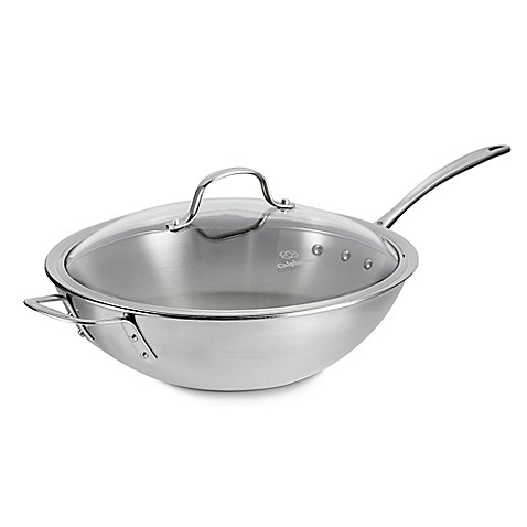 Calphalon 174 Tri Ply Stainless Steel 12 Inch Stir Fry Pan