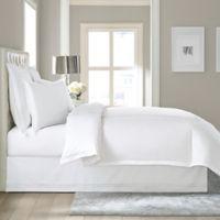 Wamsutta® Baratta Stitch Cotton 15-Inch Drop Twin Bed Skirt in White