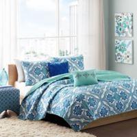 Intelligent Design Lionna 5-Piece Full/Queen Coverlet Set in Blue