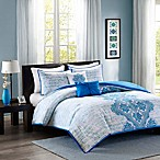 Intelligent Design Avani 4-Piece Twin/Twin XL Comforter Set in Blue