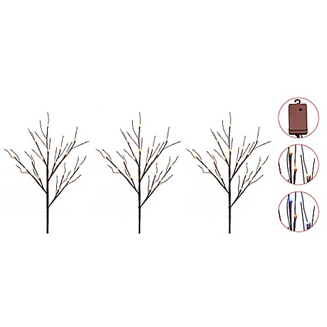 Lighted Pathway Markers Set Of 3 Bed Bath Amp Beyond