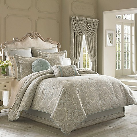 J queen new york colette comforter set bed bath beyond for Matching bedroom and bathroom sets