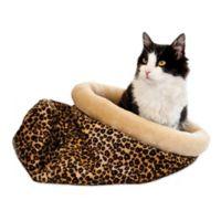 K & H Self-Warming Kitty Sack in Leopard