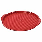 Emile Henry Rippled 14.5-Inch Pizza Stone in Burgundy