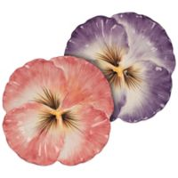 Fitz and Floyd Halcyon Pansy Snack Plates (Set of 2)