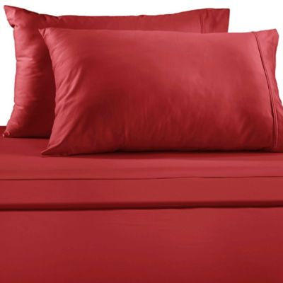 lakeside queen sheet set in red - Queen Bed Sheets