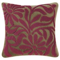 Avanni Hooked Floral Square Throw Pillow