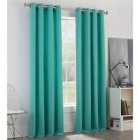 Newport 84-Inch Grommet Window Curtain Panel in Aqua