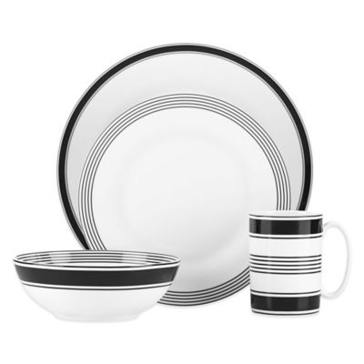 kate spade new york Concord Square™ 4-Piece Place Setting  sc 1 st  Bed Bath u0026 Beyond & Buy Black Square Dinnerware Sets from Bed Bath u0026 Beyond