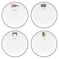 kate spade new york Concord Square™ Cause a Stir Tidbit Plates (Set of 4)