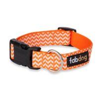 Fab Dog Small Chevron Collar in Orange