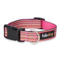 Fab Dog Small Striped Collar in Pink