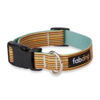 Fab Dog Small Striped Collar in Sky
