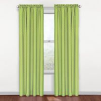 SolarShield® Polly Rod Pocket 84-Inch Room Darkening Window Curtain Panel in Green