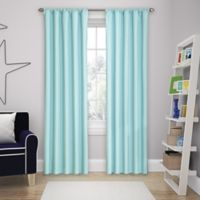 Solar Shield Microfiber Rod Pocket 63-Inch Room Darkening Window Curtain Panel in Blue