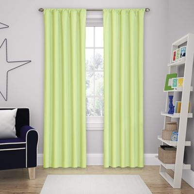 Solar Shield Microfiber Rod Pocket 63 Inch Room Darkening Window Curtain  Panel In Green