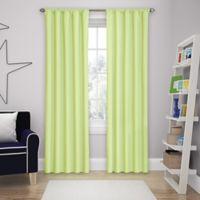 Solar Shield Microfiber Rod Pocket 84-Inch Room Darkening Window Curtain Panel in Green