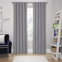 Solar Shield Microfiber Rod Pocket 84-Inch Room Darkening Window Curtain Panel in Grey