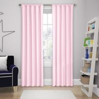 Solar Shield Microfiber Rod Pocket 84-Inch Room Darkening Window Curtain Panel in Pink