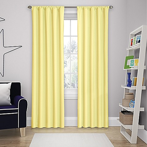 84-Inch Yellow Curtain Panel