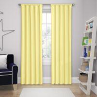 Solar Shield Microfiber Rod Pocket 84-Inch Room Darkening Window Curtain Panel in Yellow