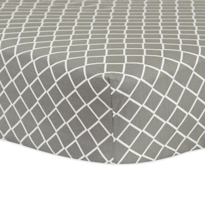 Amazing Trend Lab® Diamond Fitted Crib Sheet In Grey