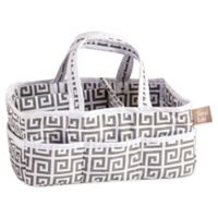 Trend Lab® Ombre Grey Greek Key Diaper Caddy